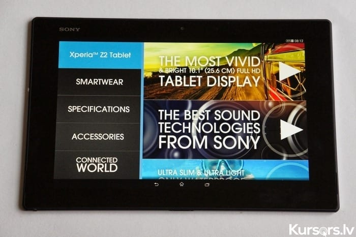 Xperia Z2 Tablet 017